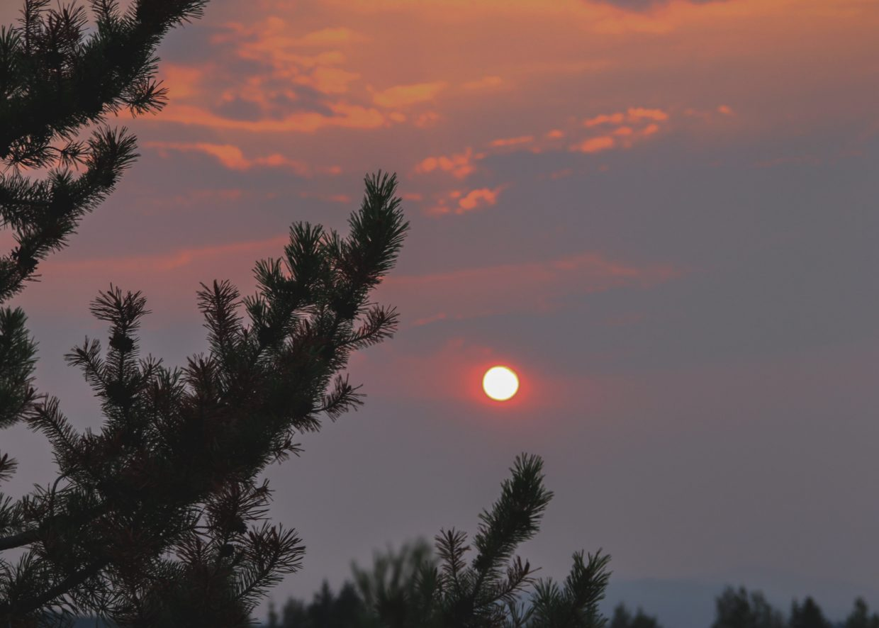 Setting sun, taken from the top of Storm Meadows Drive. Submitted by: G Frederic Reynolds