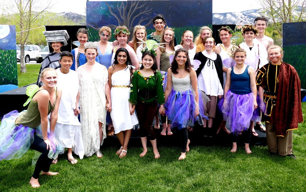 """""""Some fun photos from the school play of A Midsummer Night's Dream."""" Submitted by Shannon Lukens."""