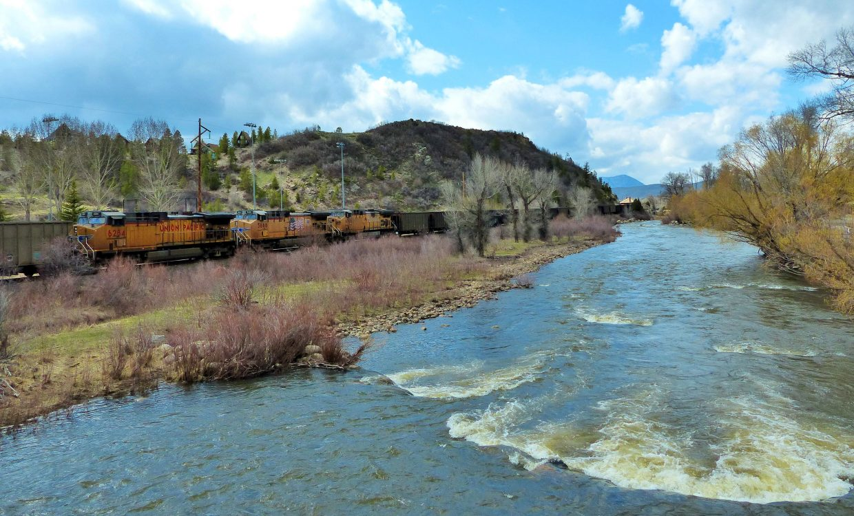 The Union Pacific coming through Steamboat. Submitted by Shannon Lukens.