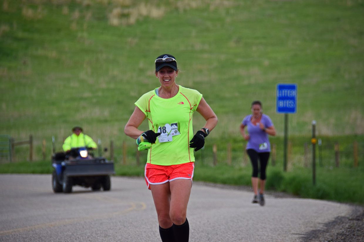 Shannon Fonger races to a 2nd place finish in the 2015 Cog Run with a time of 1 hour, 6 minutes and 54 seconds. Submitted by Roxanne Pranger.