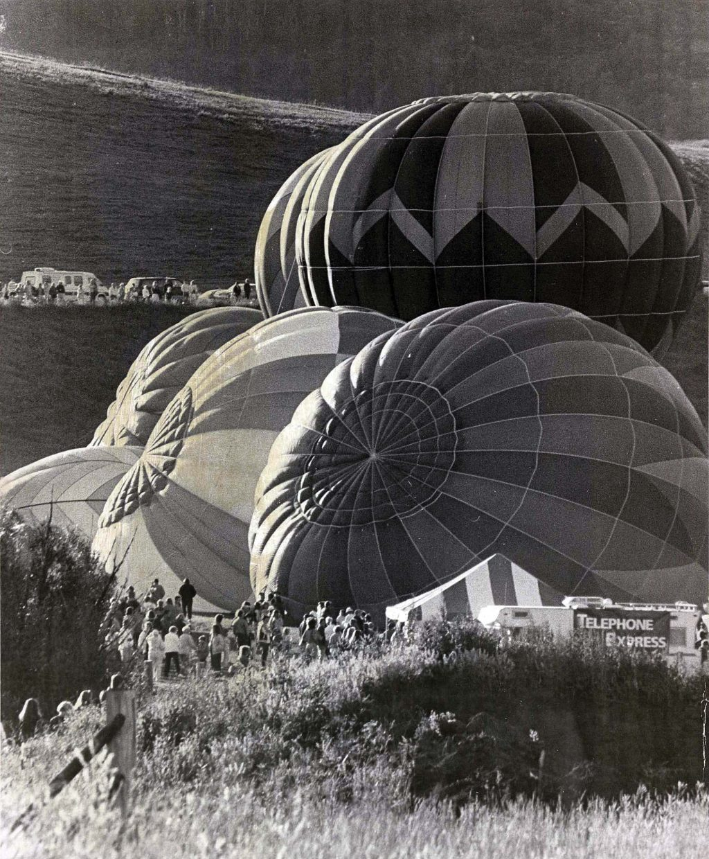 Balloons prepare to launch during the annual Hot Air Balloon Rodeo in Steamboat Springs. This photograph was taken by former Steamboat Today photographer Tyler Arroyo in the early 1990s.