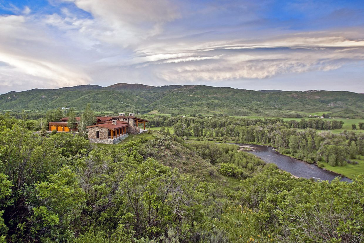 The Sky Creek Ranch, a 9,500-square-foot home on 800 acres along the Elk River, is one of two Steamboat-area homes in the running for Wall Street Journal's annual Home of the Year selection.