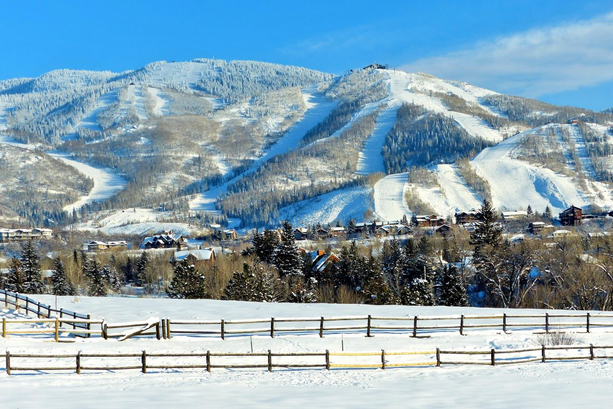 The mountain under blue sky. At least it is sunny! Submitted by: Shannon Lukens