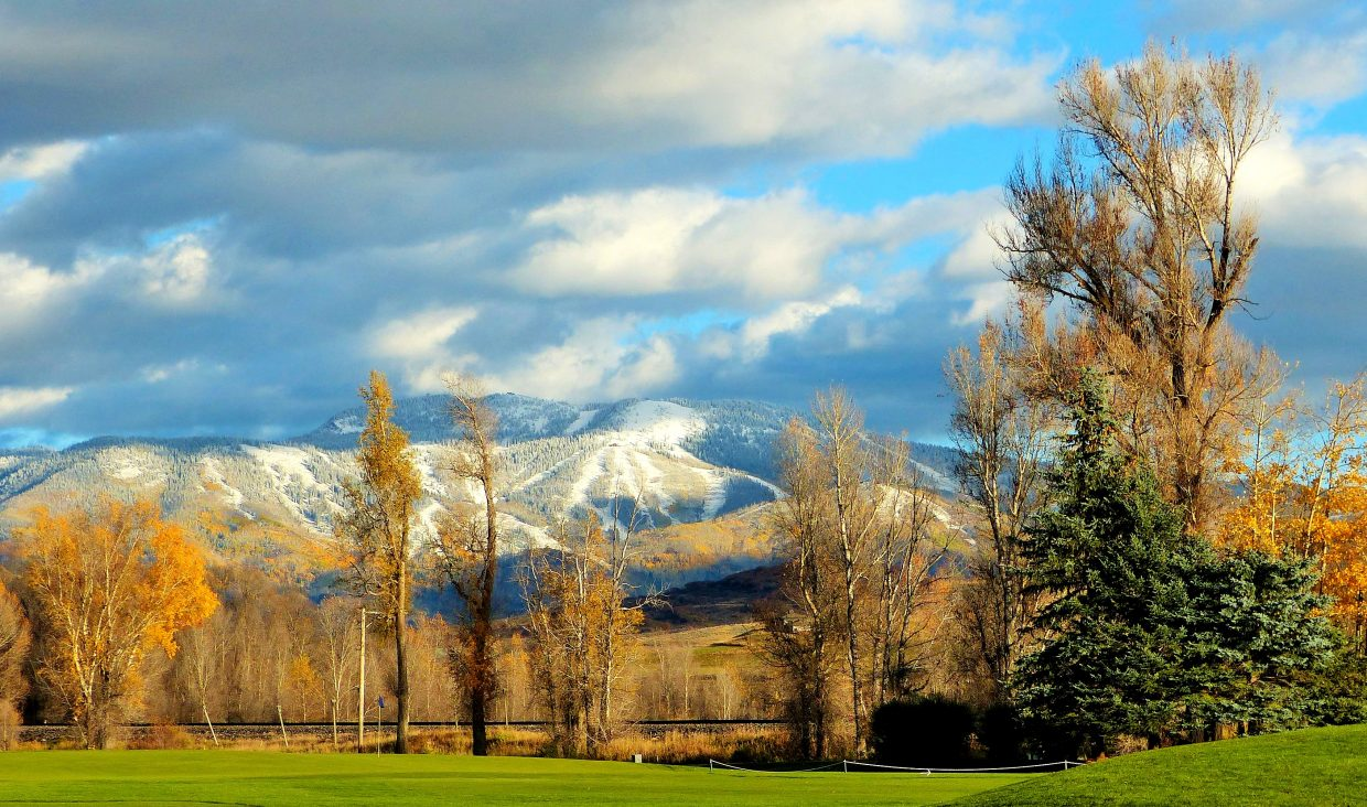 Snowy mountain seen from Steamboat Golf Club, west of town. Submitted by: Shannon Lukens
