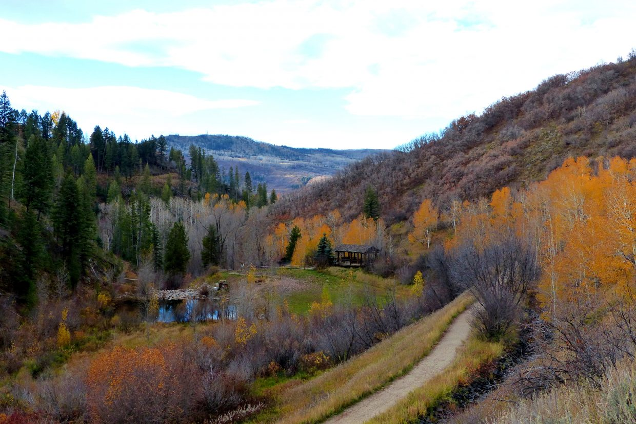 The sun coming up in Steamboat, with the pond and shelter on Spring Creek. Submitted by Shannon Lukens.
