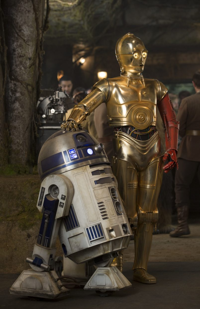 "Droids R2-D2 and C-3PO are back in action in ""Star Wars: The Force Awakens."""