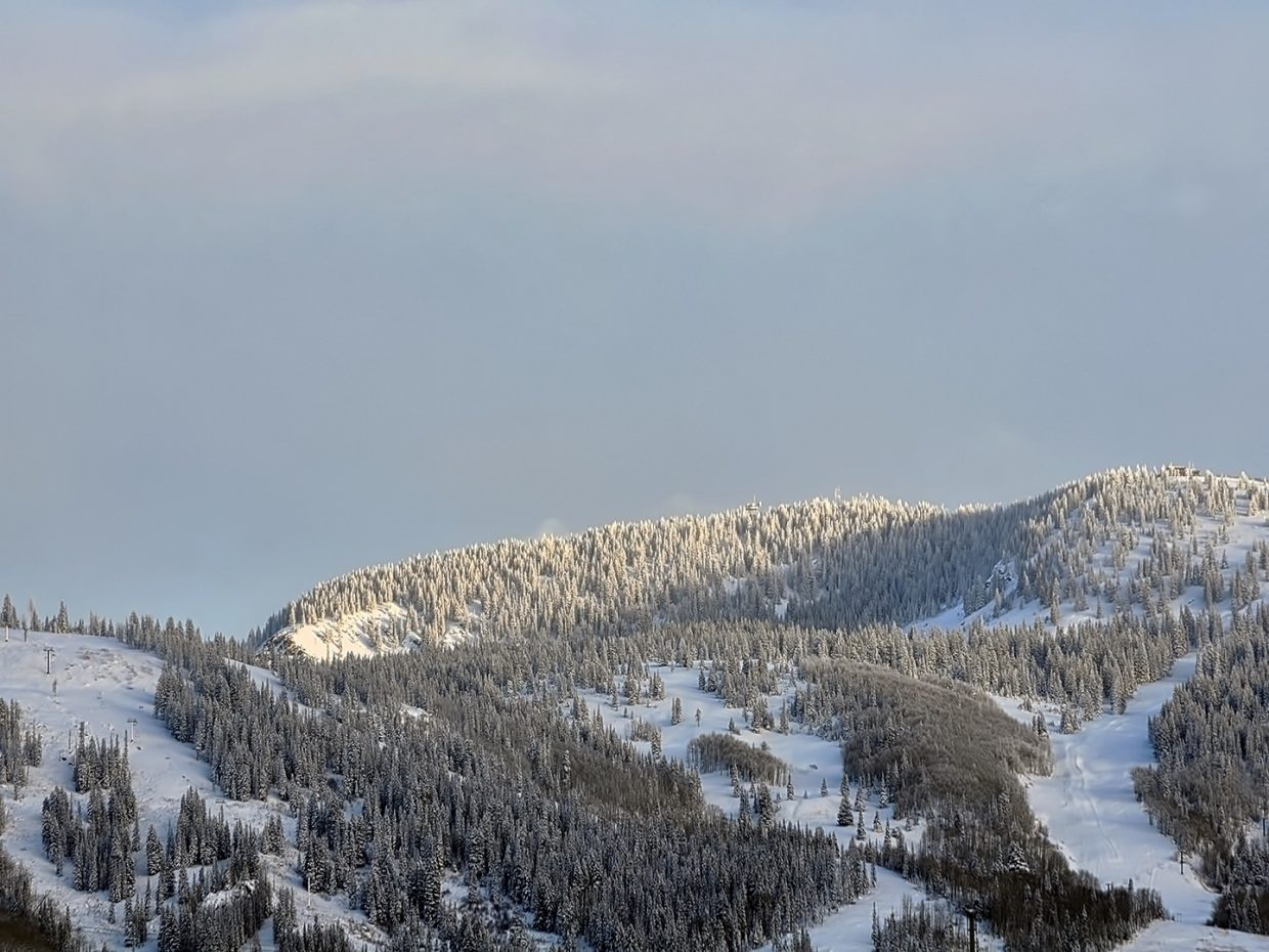 A brief break in the clouds over Steamboat. Submitted by Jeff Hall.