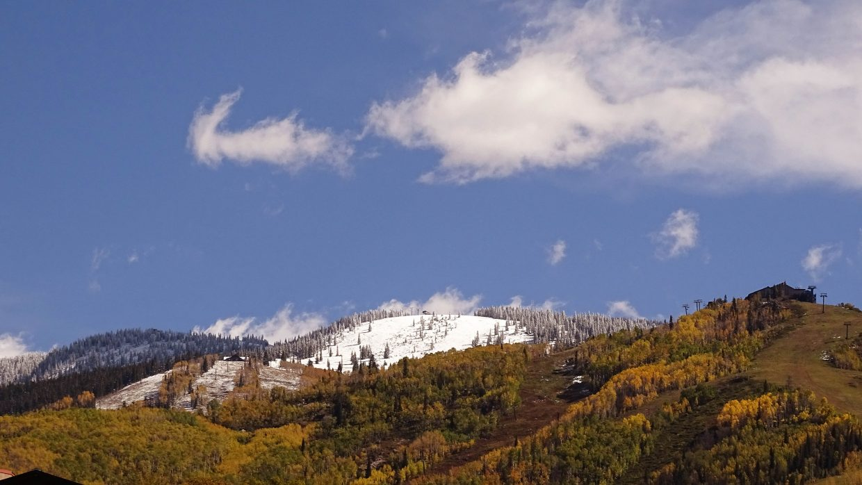 Snow on the mountain. Submitted by: Marianne Sacarisen