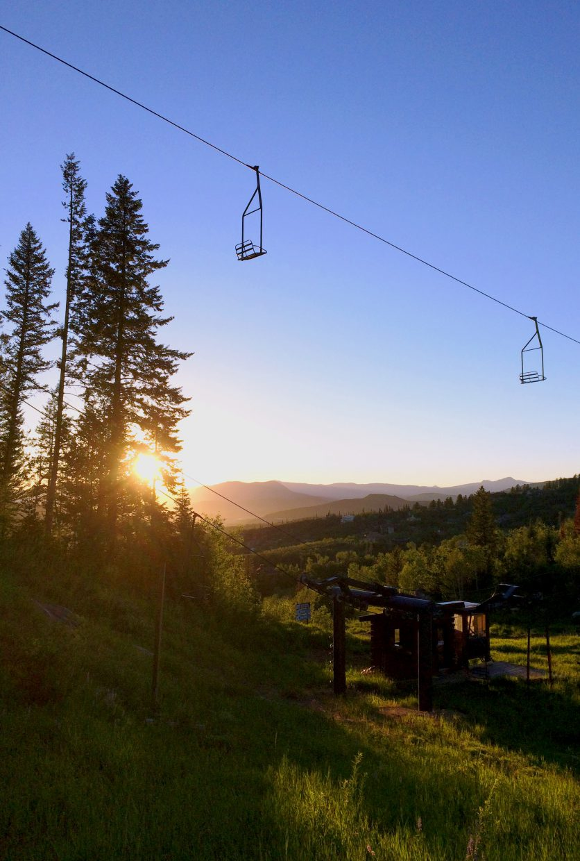 Beautiful sunset at the new Frisbee Golf course on Mt. Werner! Submitted by: Madison Slater