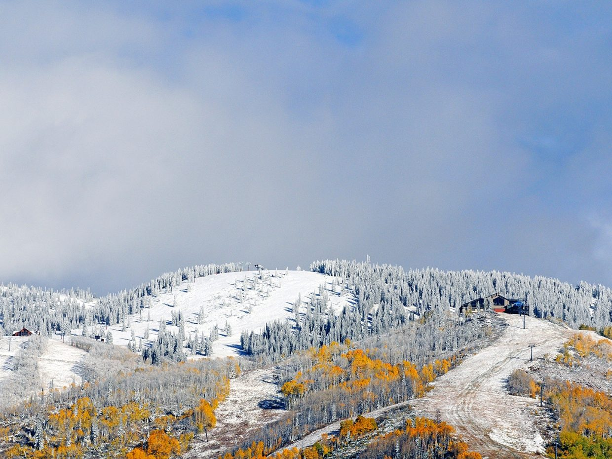 Fresh snow at the ski area. Submitted by: Jeff Hall