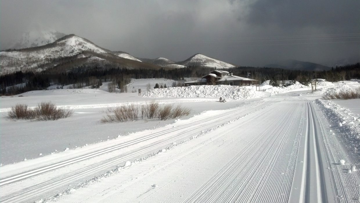 Steamboat Lake groomed trail. Submitted by: Julie Arington