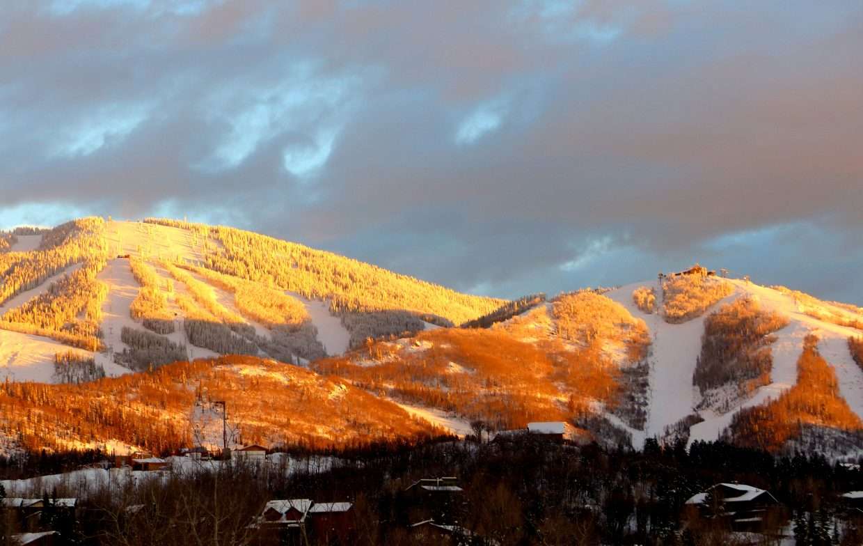 Steamboat alpenglow. Submitted by: Shannon Lukens.