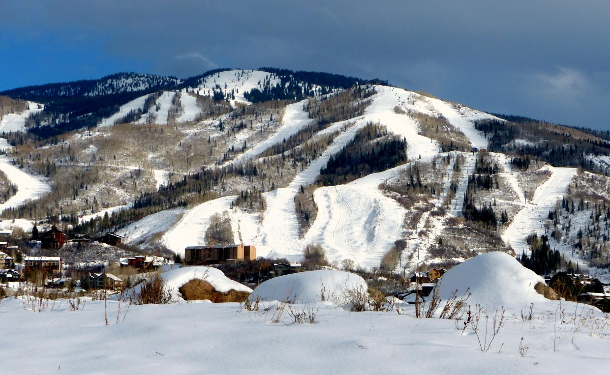 Steamboat Ski Area on a cloudy day. Submitted by: Shannon Lukens
