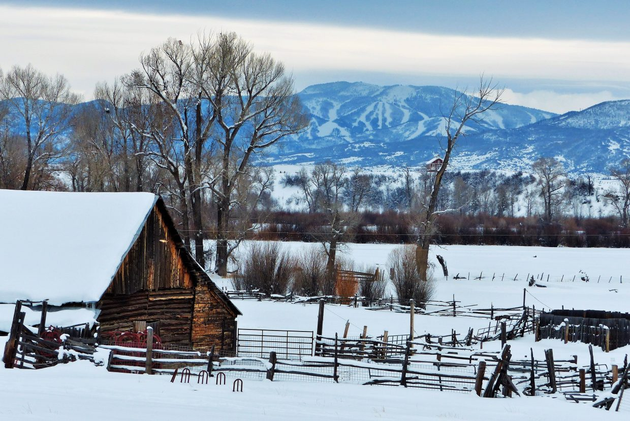 This ranch has the slopes of Steamboat in the background. Submitted by: Shannon Lukens