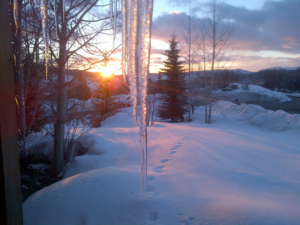 This sunset photo was taken off Bluebird Lane. Submitted by Roger Rieger.