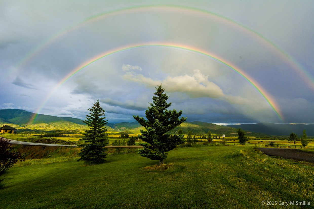 Double Rainbow over the Yampa Valley. Submitted by Gary Smillie.