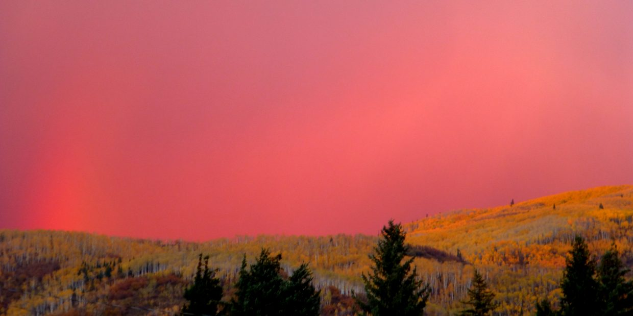 Steamboat sunset on Friday. Submitted by: Gail Hanley