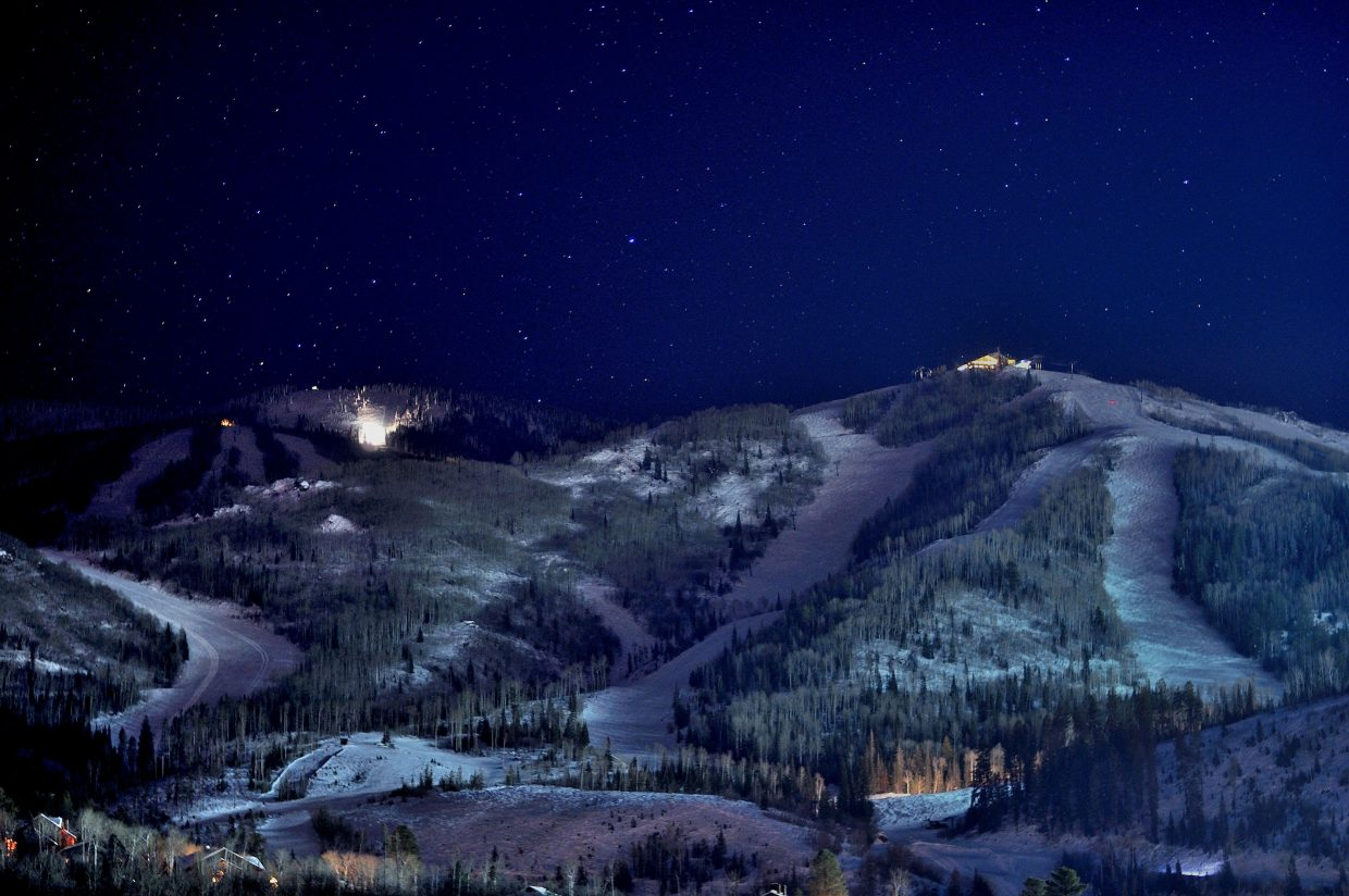 Steamboat Ski Area at night. Photo submitted by: Carl Walker.