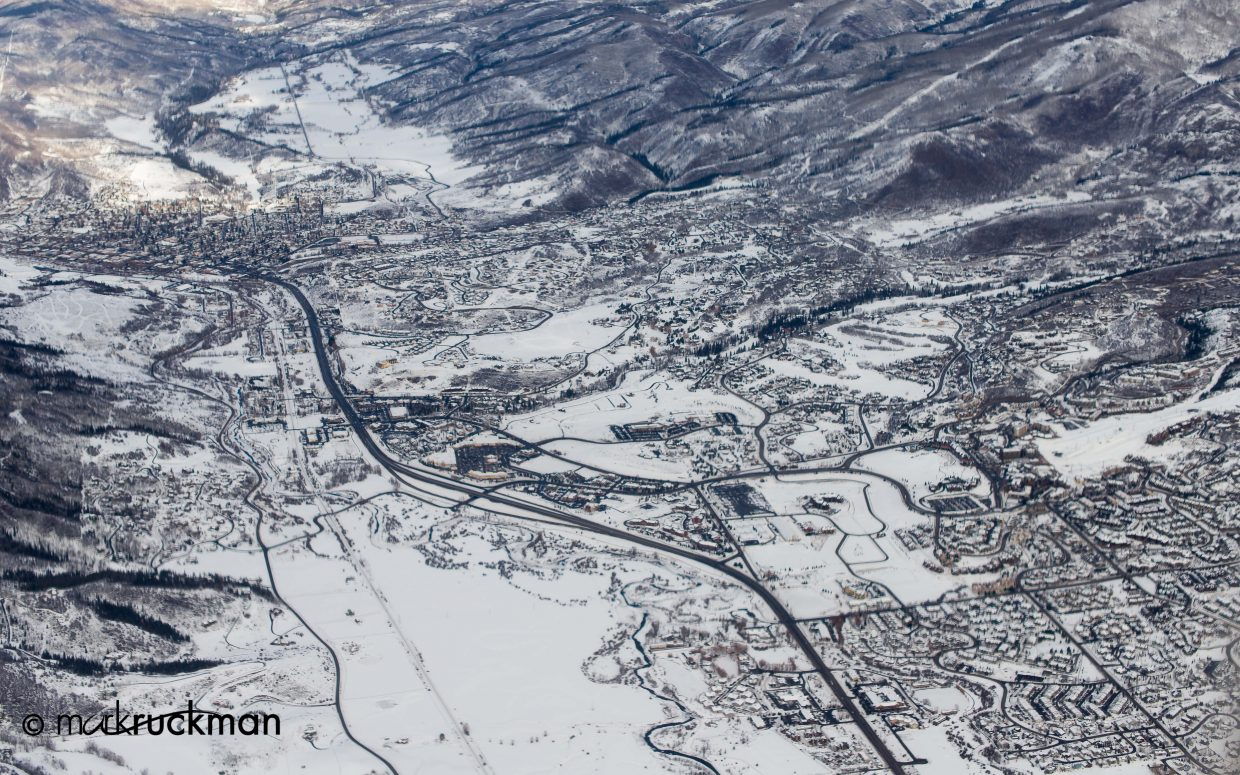 Shots from the Houston to Hayden flight Thursday of Steamboat and the airport. Submitted by: Mark Ruckman