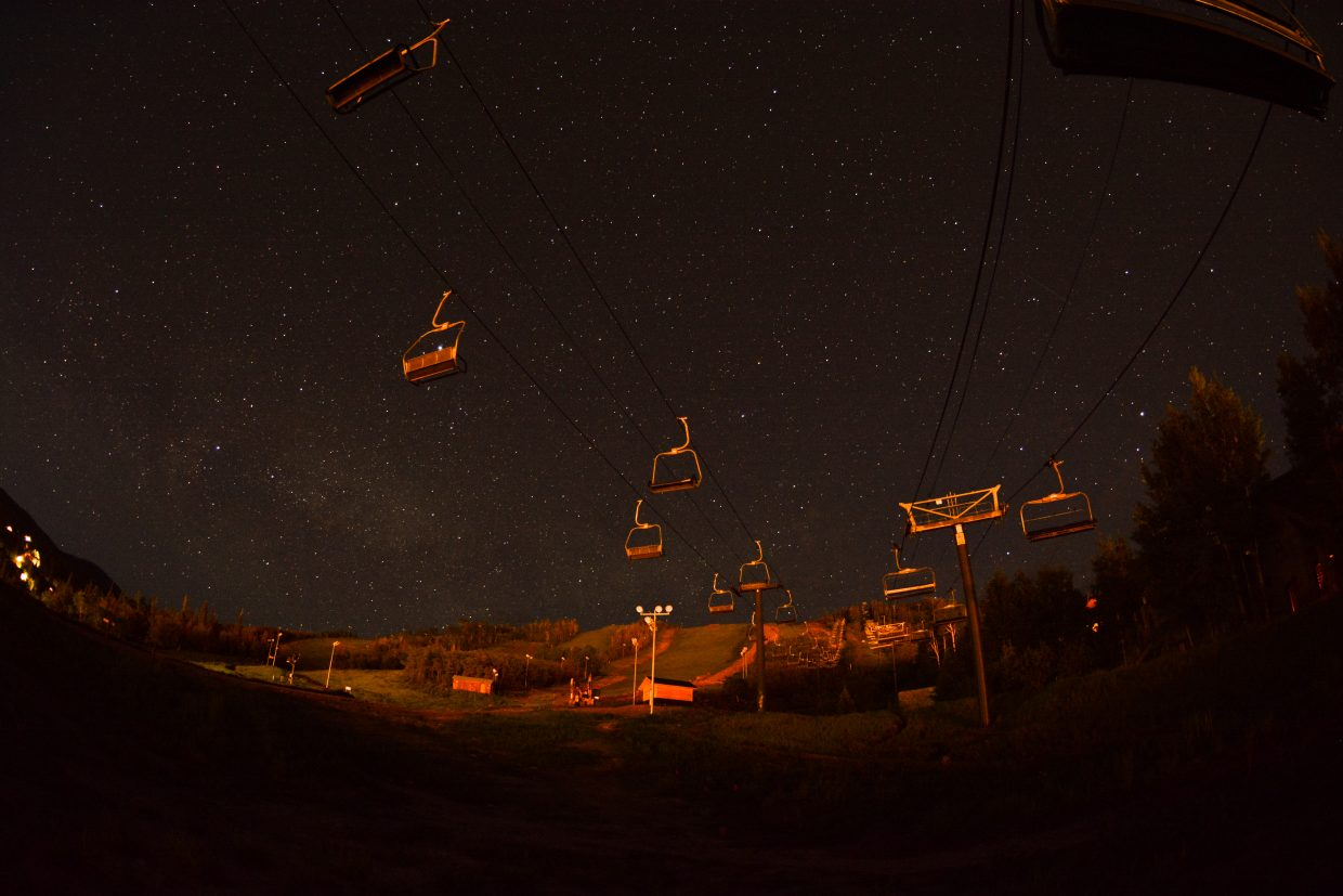 Nightfall over the Christie lifts. Submitted by Stephen Shelesky.