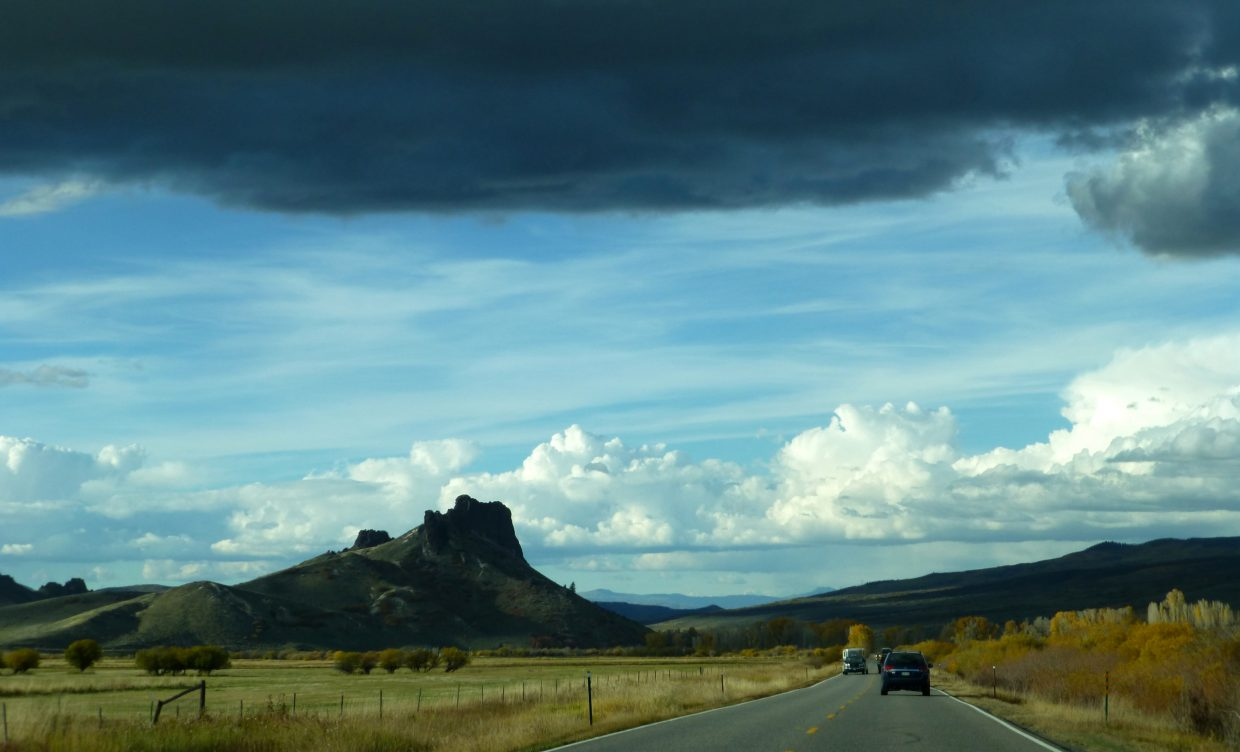 Storm clouds near Yampa on Friday. Submitted by: Gail Hanley