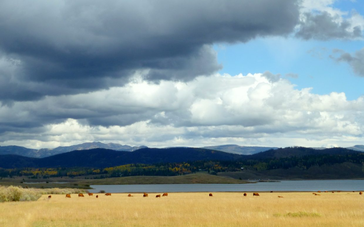 Storm clouds over Steamboat Lake. Submitted by: Gail Hanley