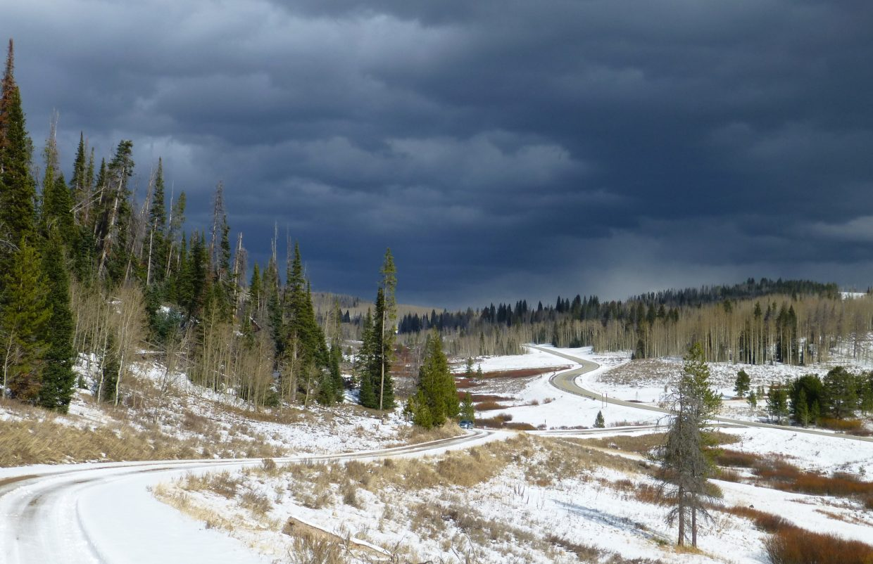 Storm rolling in near Hahn's Peak. Submitted by: Gail Hanley