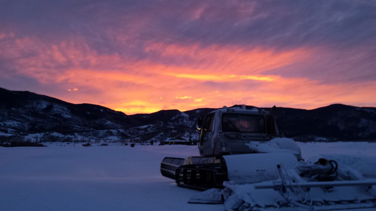 Early morning trail grooming at the Haymaker Nordic Center. Submitted by: Bill Martin.