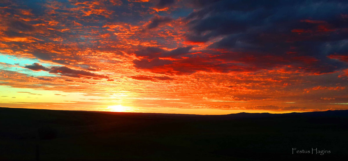 Sunset at the top of the Hayden Cog. Submitted by: Festus Hagins