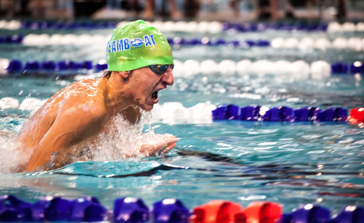 Steamboat Springs Swim Team's Brenden Carta, 18, had the squad's top boys finish in the Oct. 11 and 12 Ned Mechling Memorial Aspen Invitational, grabbing gold in the 15-and-over 50-yard free. As a team, Steamboat finished fourth out of a dozen groups.