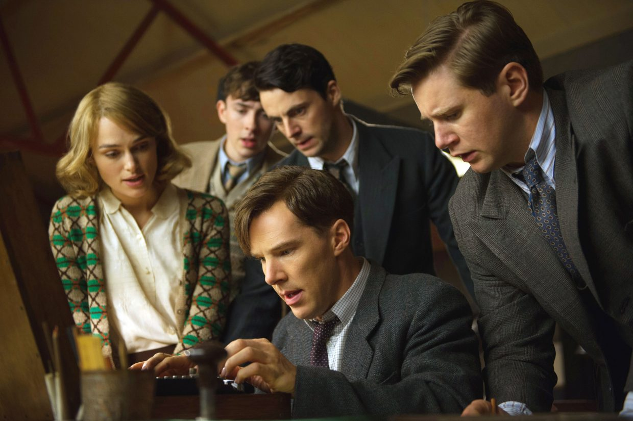 """Alan Turing (Benedict Cumberbatch) and associates perform cryptanalysis in """"The Imitation Game."""" The movie is about a group of British code-breakers during World War II."""