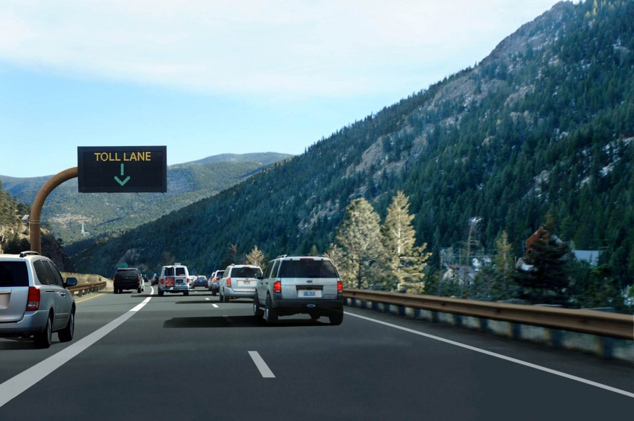 CDOT reports the new mountain express toll lane is seeing steady use.