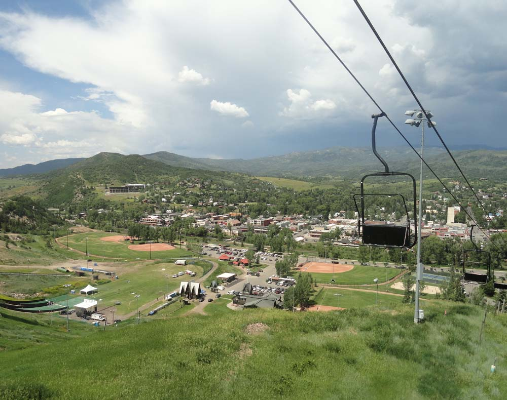 Steamboat from the Howelsen lift on the way to do the Alpine Slide. Submitted by: Erin Biggs