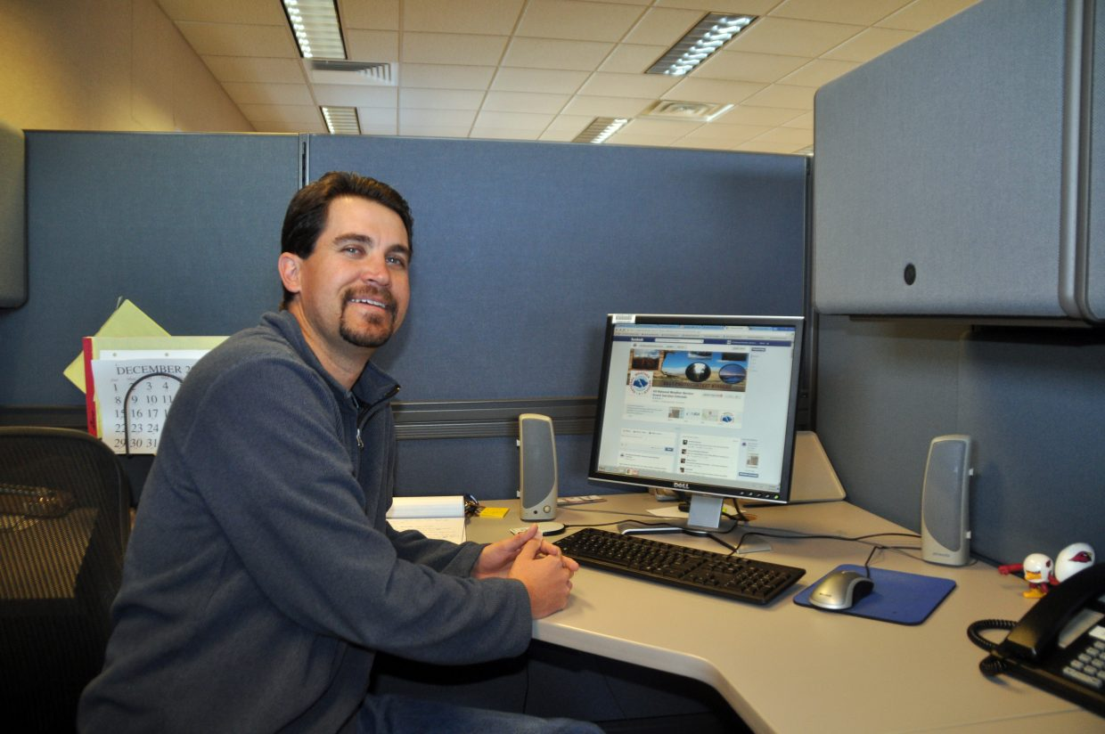 Travis Booth is a pioneer at the Weather Service. As an intern, he helps do forecasts while also managing the relatively new social media accounts for the Weather Service office in Grand Junction.