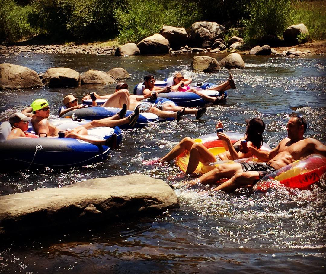 Tubing the Yampa River. @grantknisely