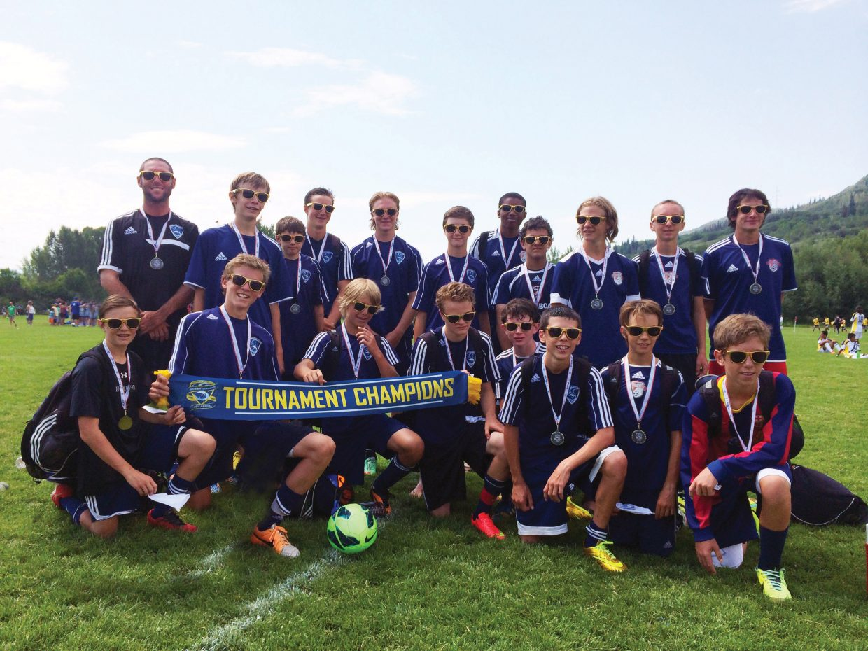 Steamboat's U14 boys soccer team captured a title at last weekend's Steamboat Mountain Soccer Tournament.