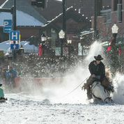 A rider crashes during Winter Carnival. Submitted by Roger Ingram