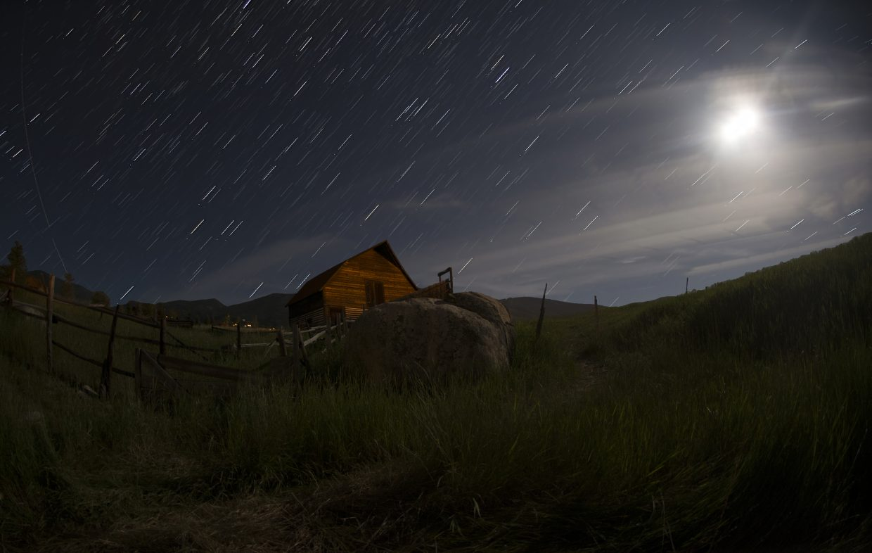 Star trails over the barn. Submitted by Stephen Shelesky.
