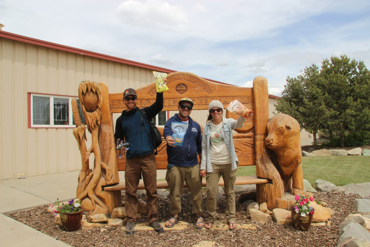 Here's the Rig To Flip crew with Ben Saheb, Cody Perry and Jules Poma just wrapping up an interview at the Ute Mountain Ute Tribe Farm and Ranch Enterprise. This cutting edge operation is the largest grower of human consumable food in the region.