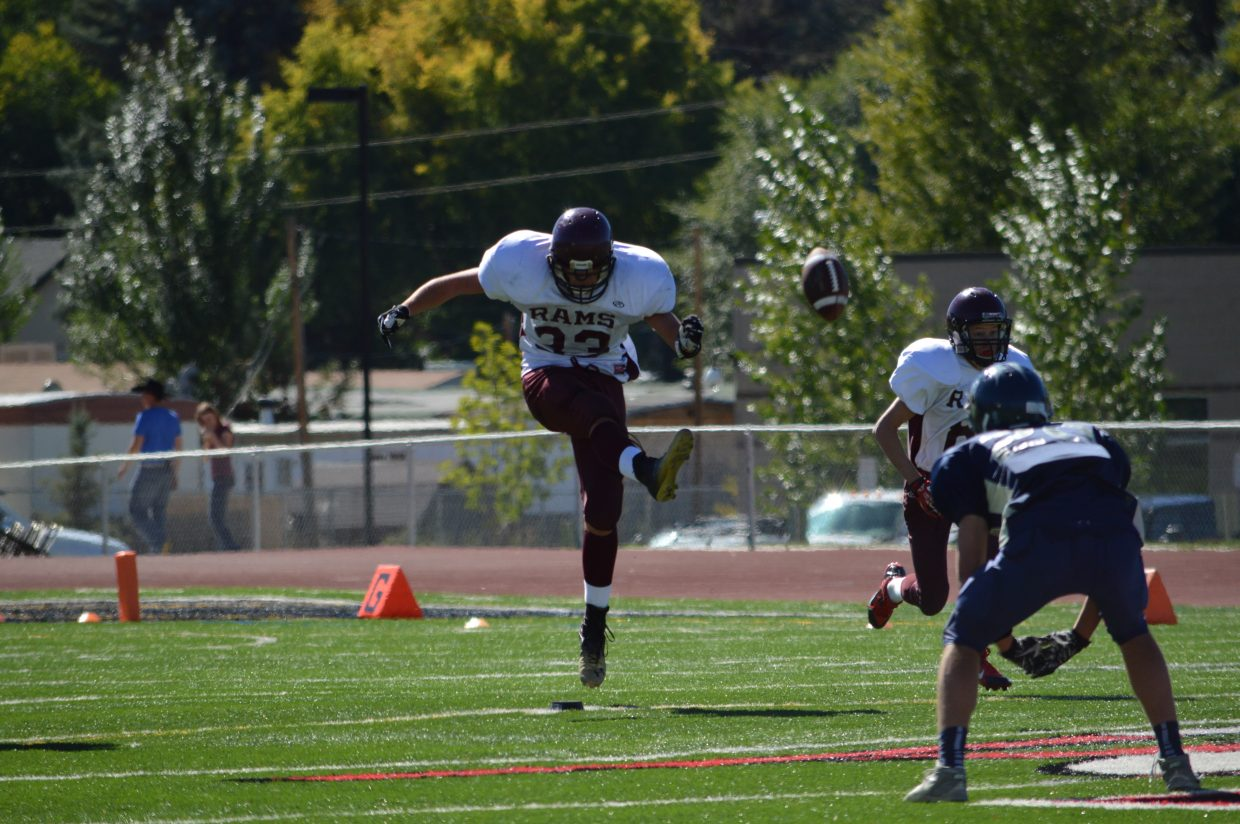 Ryan Jeep plays in Saturday's game against Vail Christian.
