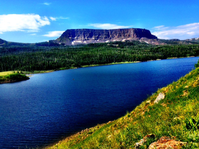 Stillwater Reservoir and the Flat Tops. Submitted by Verleen Tucker.