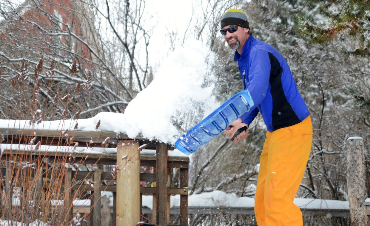 """""""I'm trying to decide if I should go skiing or keep shoveling and plowing,"""" Steamboat Springs' Peter Casavecchia said Sunday. He could have done a little of both after an overnight storm dropped a fresh blanket of snow on the valley, the first moisture after an unseasonably warm and dry period."""