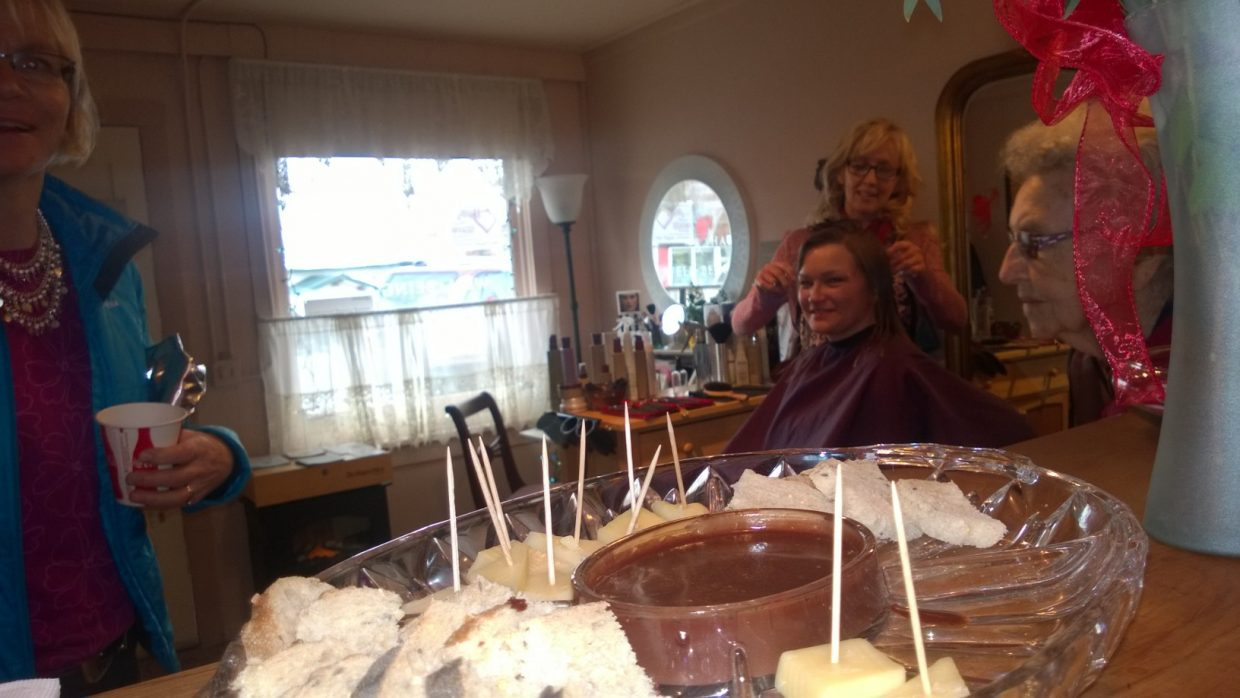 Hayden Chocolate Extravaganza: Judy Guerin At Thistle Dew Salon. Submitted by Wendy Lind.
