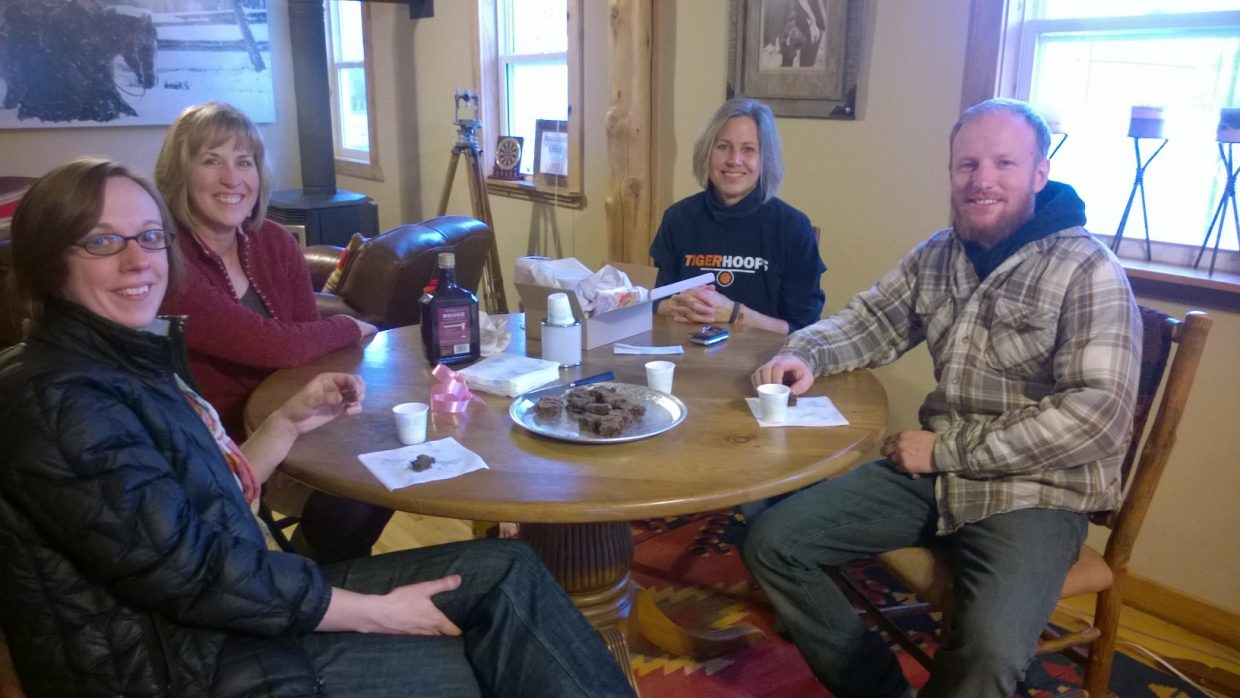 Hayden Chocolate Extravaganza: Amy Williams with Colorado Group Realty. Photo by Wendy Lind.