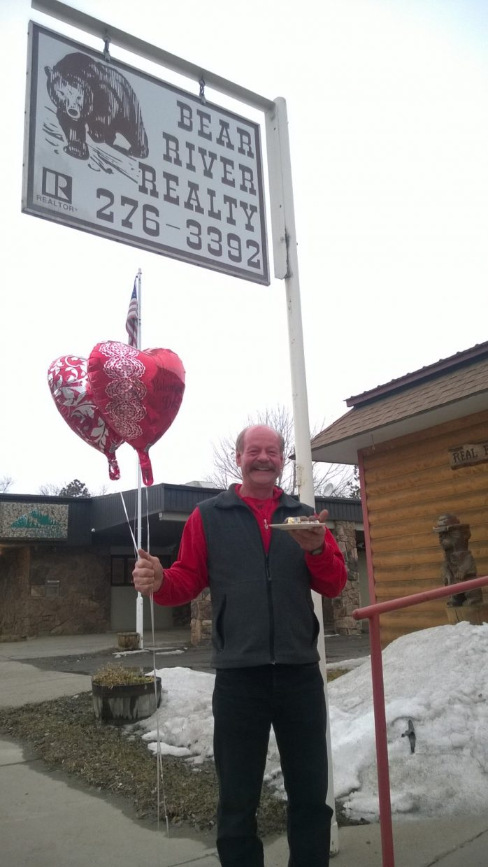 Hayden Chocolate Extravaganza: Jack Giessinger at Bear River Realty. Photo by Wendy Lind.