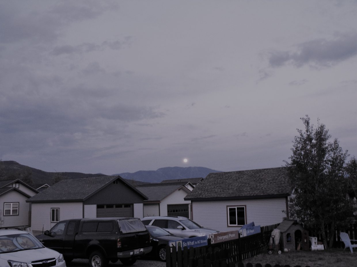 Full moon on the rise.