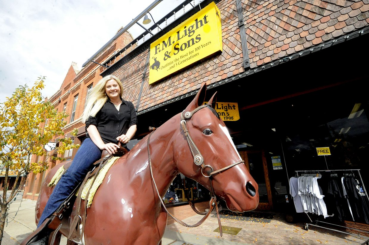 Lindsay Dillenbeck has enjoyed taking the reins of her family's business in Steamboat Springs.