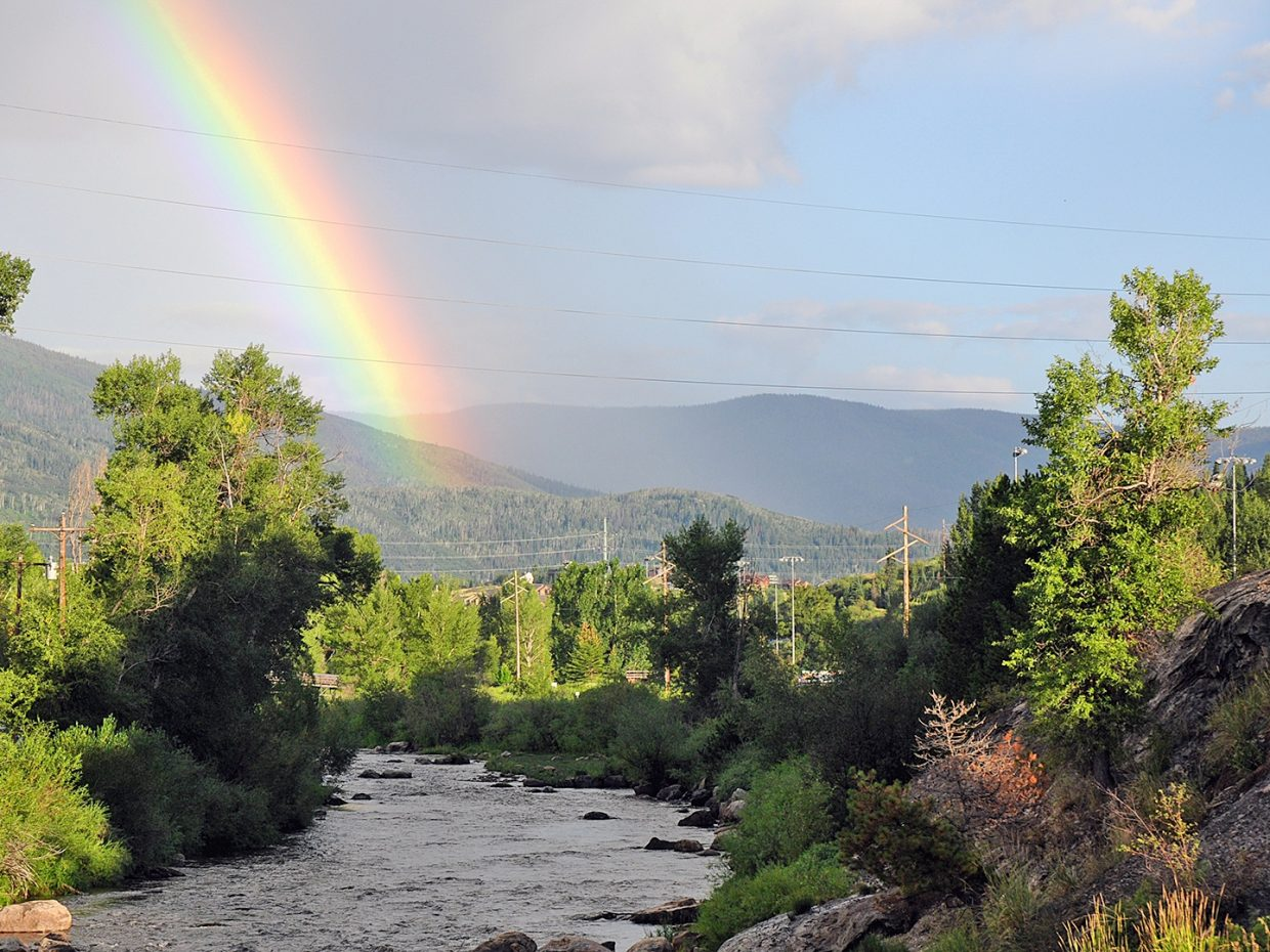 Rainbow over the Yampa River. Submitted by: Jeff Hall
