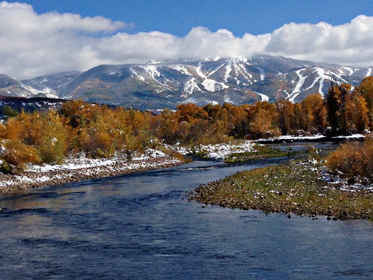 Fall colors on the Yampa River. Submitted by: Jeff Hall