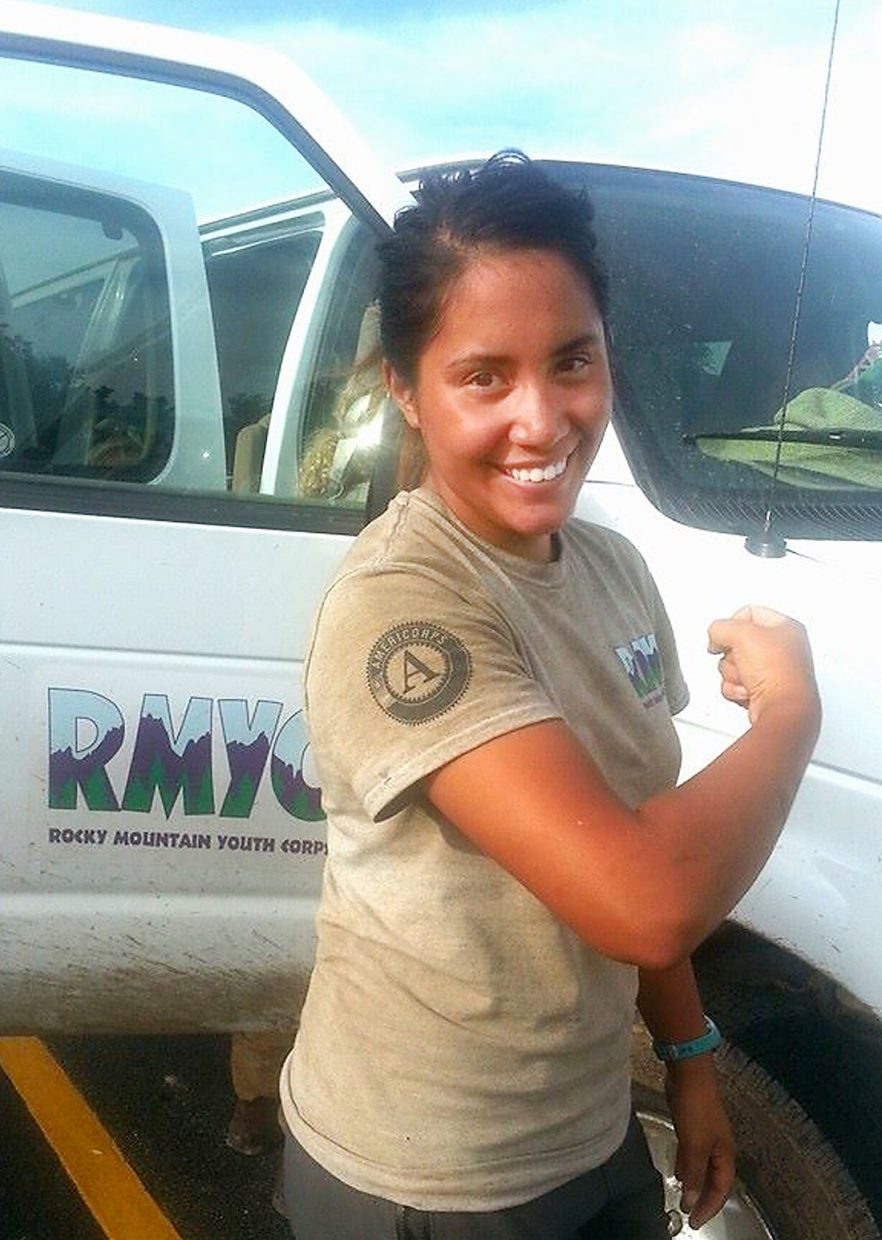 Rocky Mountain Youth Corps trail crew member Gracie Billingsley brought a can-do attitude to her work in Steamboat Springs and the neighboring White River National Forest last summer. Now, she's the first RMYC crew member to be given a prestigious national AmeriCorps award.
